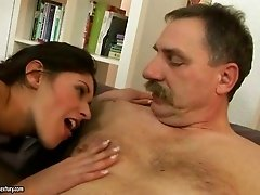 Hot girl enjoying hard sex with old man