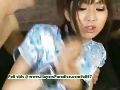 Akari Satsuki innocent lovely asian girl gets a facial