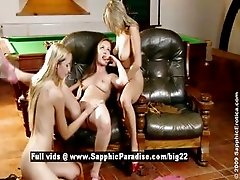 Aneta and Zoe and Mya Torrid lovely lesbian babes have threesome orgy sex