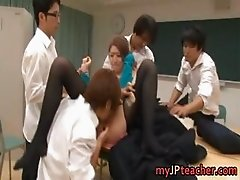 Ai Haneda sexy Japanese teacher has sex part6