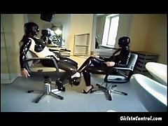 Two sexy girls in latex getting naughty