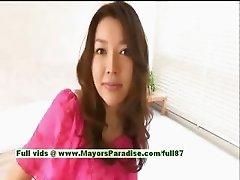 Mai Uzuki innocent naughty asian chick gets undressed and kissing