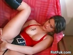 Big cock and whole fist go in hot slut part6