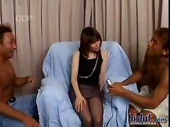 Anzai all freshly shaven decided to have some fun with us by letting us masturbate her with all manner of sex toys. The whimpers of pleasure emanating