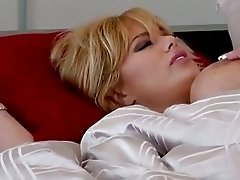 Big titted blonde Shyla Stylez gets a butt banging before sucking out spunk