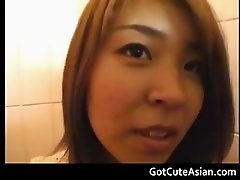 Japanese amateur Nagisa in public