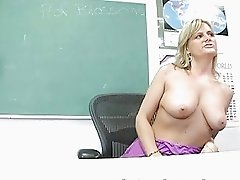 UK MILF teacher masturbates in the classroom
