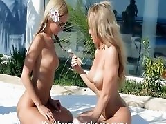 Luxury teen blondes vagina eating