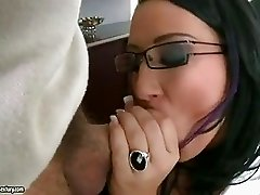 Seductive hot Carmen Blue takes a mouthwatering cock in her sweet mouth