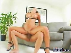 irst Lezley Zen does some light housework. Watch her polish the banister