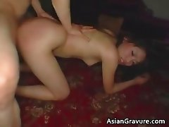 Teen asian hottie rub butthole with sex part3