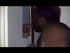 Black thug swallows White guys cum at GH