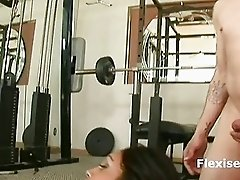 Indian Prya Rai gag in flexible position