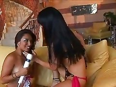 Eva Angelina and her sexy pals vibe each other into a hot twat frenzy