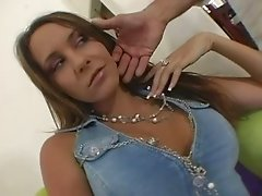 Big Boobed Slut Fucks and Guzzles Cum
