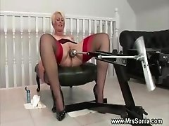Mature brit and her sex machine