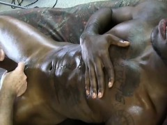 Gaystraight black amateur tugged off
