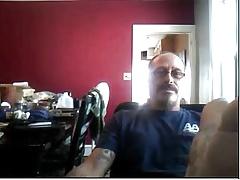 Straight guys feet on webcam #78