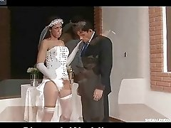 Fiery t-girl going for a wedding ceremony