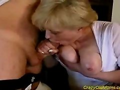 Crazy old gets fucked hard with a long cock deep