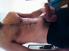 playing with cock
