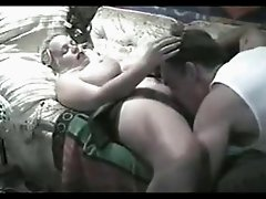 BBW Blonde Girlfriend Homemade Fucking On Sofa