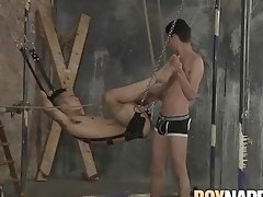 Japanese twink restrained and anally fucked by maledom