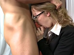 Elegant chick fucked hard in the office by her boss
