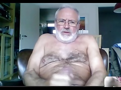 silver daddy lars jerking off