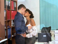 Dane Jones Sexy young Ebony office girl has the hots