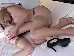 mature british moms amy and scarlet love each other