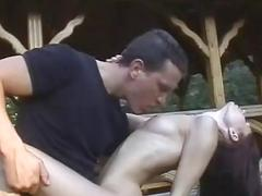 Amateur girlfriend outdoor action with cum in mout