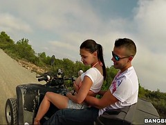aletta ocean four wheeling through some spanish hills