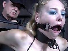 Bound babe toyed super rough in Delirious Hunter BDSM porn