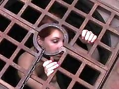 Hot sexy girl loves attention in her little cage BDSM