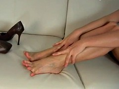 foot and shoe tease
