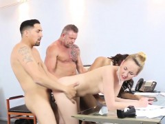 Teens riding old cock