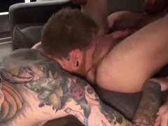 Hot big dick tattooed hunks ass fucking like never before