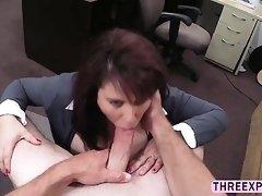 Bouncy tits Milf fucked hard