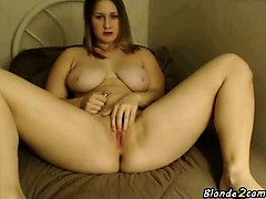 Woman shows her big tits and ass on webcam show
