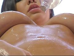 TittyAttack  Busty Babe Oiled up & Fucked