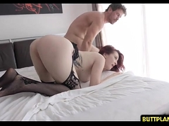 Redhead pornstar hardcore and swallow