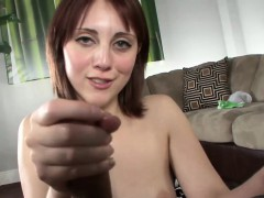Teen beauty wanking dick pov