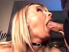 Breathtaking Leggy Blonde Gags On Girthy Freak Dick