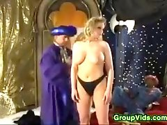 Incredible Classic Pornstar With Natural Boobs Comes To Orgy