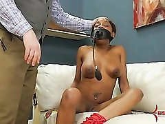 Kinky black hottie fucked up the butt by a black dick