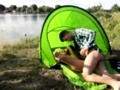 Eveline getting screwed on camping site