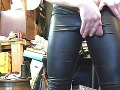 Horny in leggings