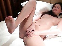 Sensual solo masturbation with Hope Howell