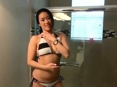 Hot Asian Ex Girlfriend Sonia Lei Sucking Dick In Bathroom